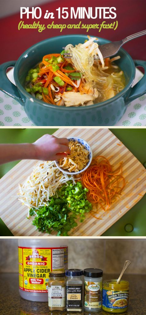 Make delicious, healthy pho quickly and easily.