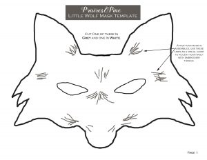 picture about Printable Wolf Mask Template for Kids known as Flip Aged T-Shirts into Fairytale Costumes Prairie Pines